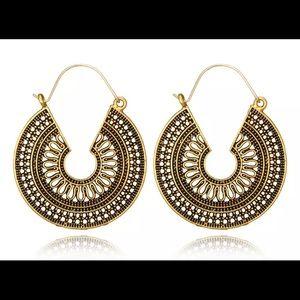 Vintage antique gold dangle earrings
